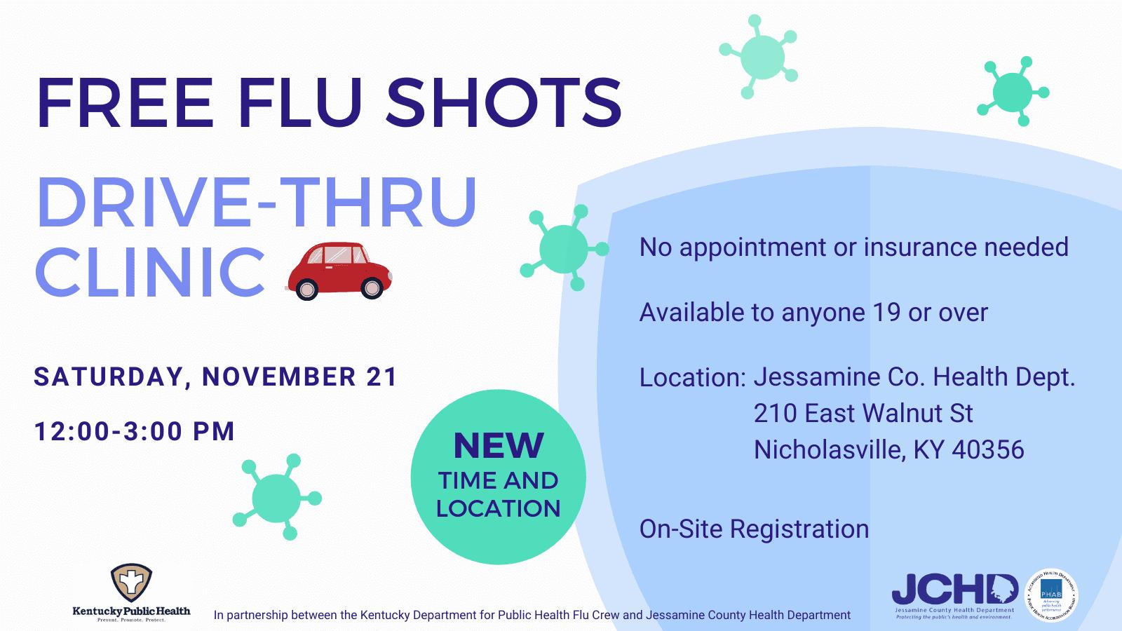Drive Thru Flu Clinic @ JCHD parking lot