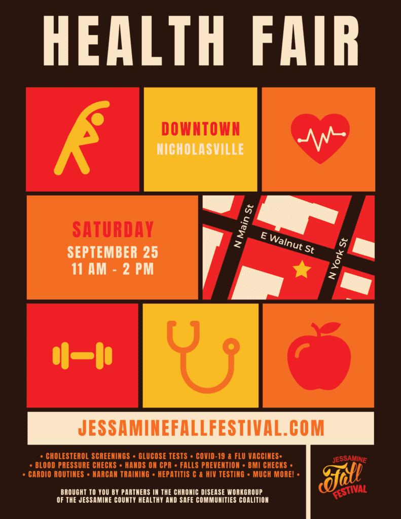 Health Fair: Jessamine Fall Festival @ 102 North York Street NIcholasville KY 40356